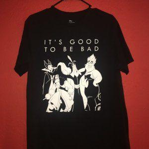Disney It's Good To Be Bad Villains Large Tshirt